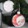 Christmas Christmas Photo Bauble With Personalised Message