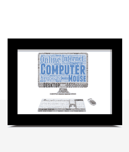 Gifts For Him Personalised Computer Word Art Print