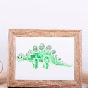 Animal Prints Personalised Dinosaur Word Art