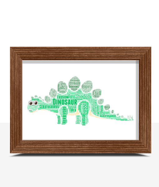 Animal Prints Personalised Dinosaur Word Art