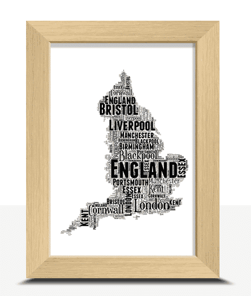 [tag] Personalised England Word Art