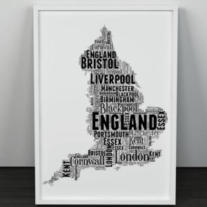 [tag] Personalised England Word Art