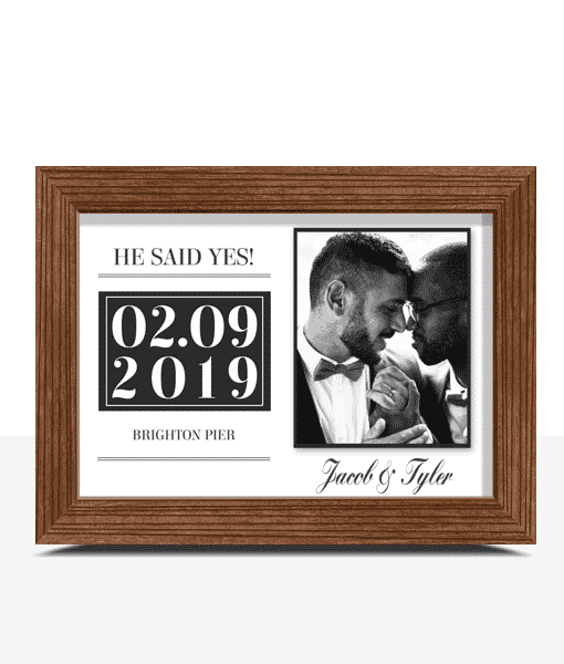"""He Said Yes!"" Personalised Engagement Gift"