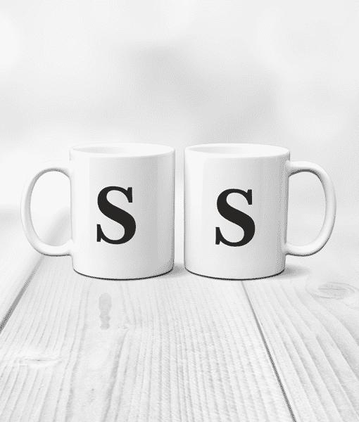 Birthday Gifts Personalised Letter Mug