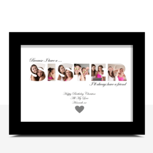 Gifts For Her Personalised SISTER Photo Gift
