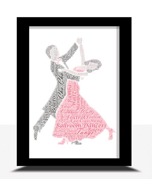 Ballroom Dancers – Dancing Couple Word Art