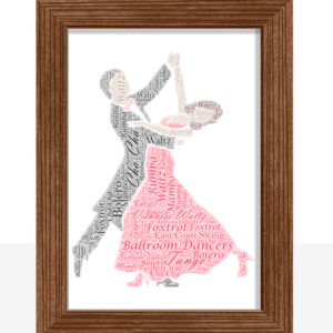 Gifts For Couples Ballroom Dancers – Dancing Couple Word Art