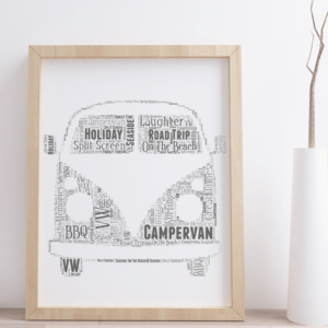 Personalised Campervan Word Art Print