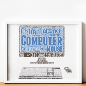 Personalised Computer Word Art Print