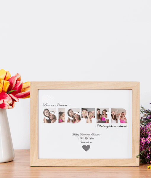 Personalised SISTER Photo Gift