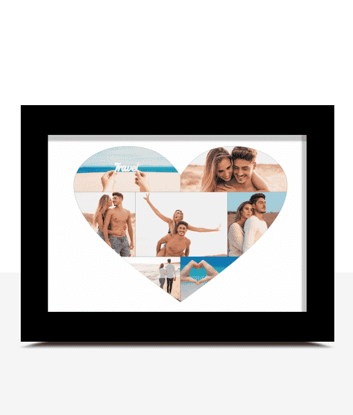 Engagement Gifts Personalised Love Heart Photo Print