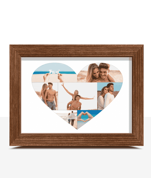 Personalised Love Heart Photo Print