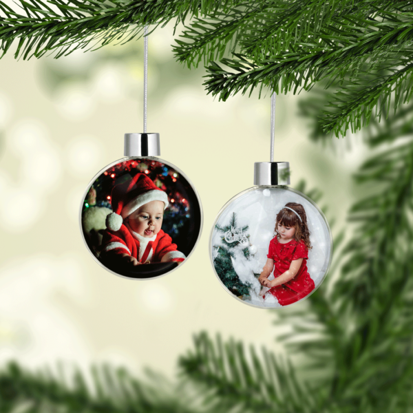 Baby Shower Gifts Personalised Christmas Photo Baubles