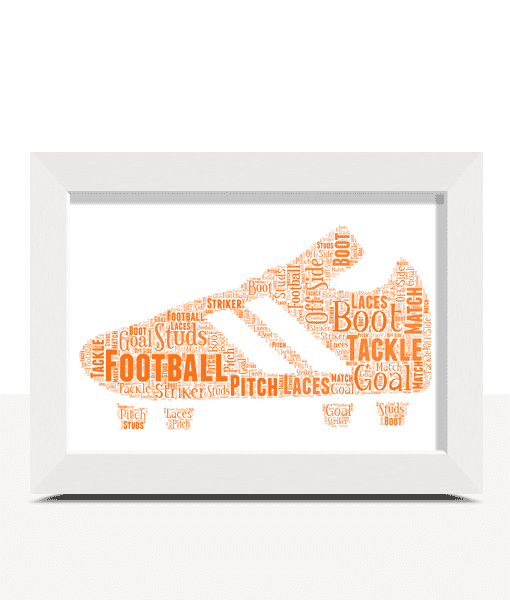 Fathers Day Gifts Football Boot Word Art Print