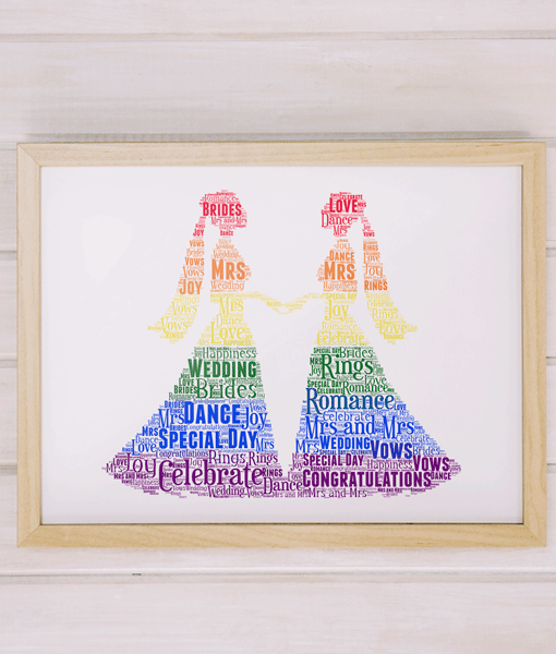 Wedding Gifts LGBT Gay Female Wedding Couple Gift