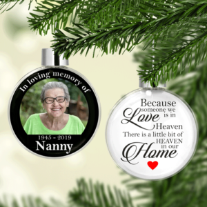 Christmas Christmas Memorial Photo Baubles