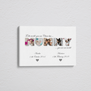 Gifts For Her Personalised MUMMY Photo Canvas