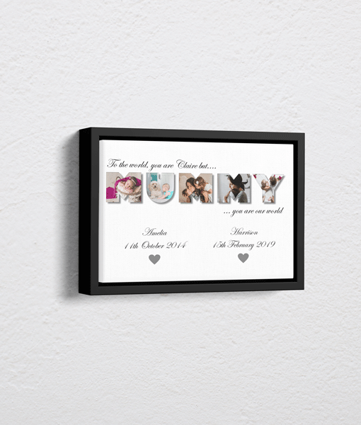 Personalised MUMMY Photo Canvas