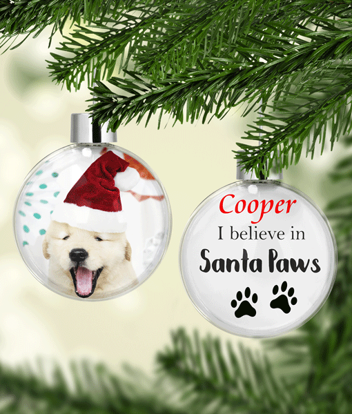 Christmas Personalised Pet Christmas Photo Bauble