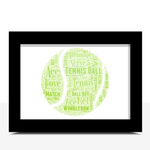 Tennis Word Art – Personalised Tennis Player Gift Sport