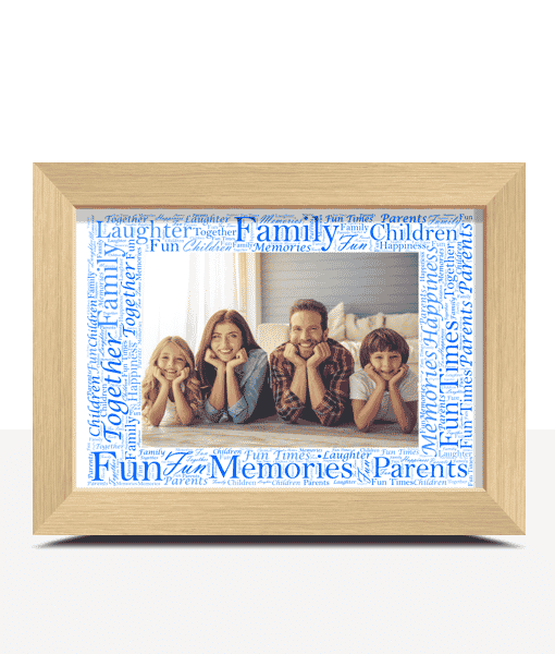 Anniversary Gifts Word Art Photo Frame – Personalised Gift
