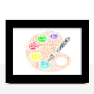 Personalised Artists Pallette Word Art Print