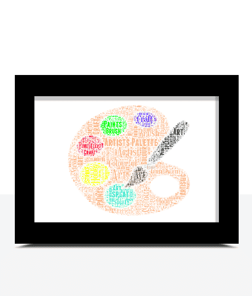 Graduation Gifts Personalised Artists Pallette Word Art Print