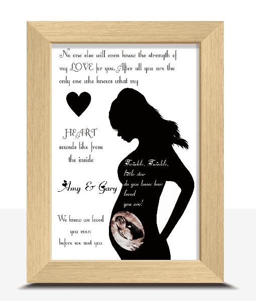 Baby Shower Gifts Personalised Baby Scan Photo Frame