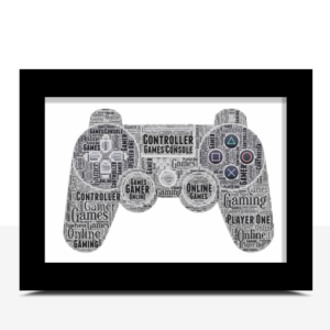 Fathers Day Gifts Personalised Gamer Word Art Gift