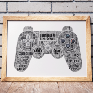 Personalised Gamer Word Art Gift