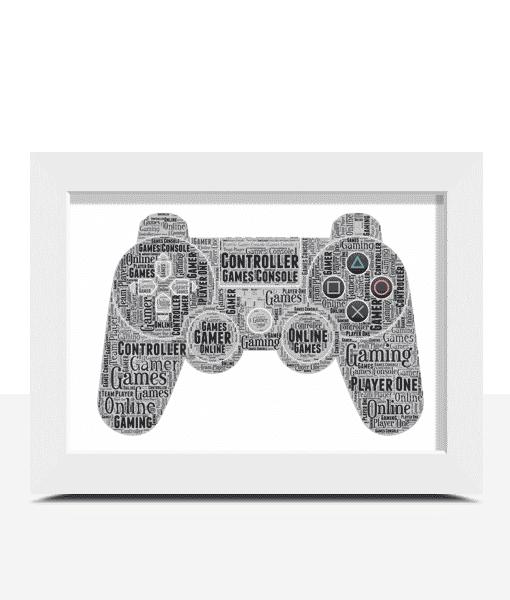 Personalised Gamer Word Art Gift