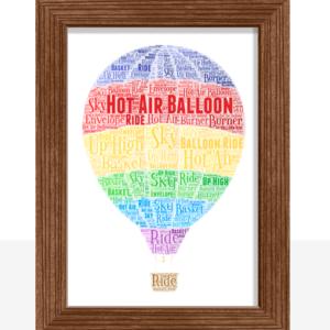Hot Air Balloon Word Art Gifts For Children