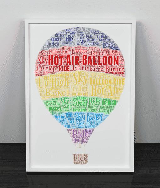Hot Air Balloon Word Art