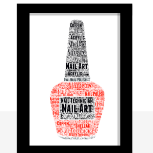 Personalised Beauty Therapist / Nail Polish Word Art Print