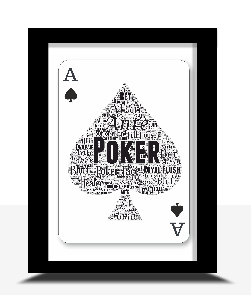 Personalised Poker Player Word Art Gift