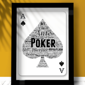 Gifts For Him Personalised Poker Player Word Art Gift