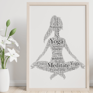 Personalised Yoga Word Art Print