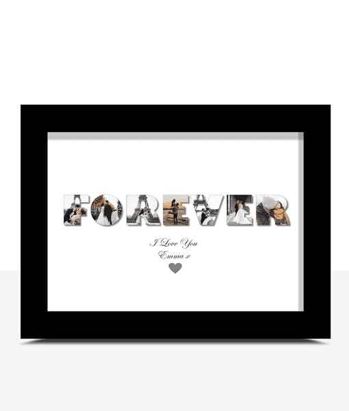 Anniversary Gifts Personalised FOREVER Photo Print