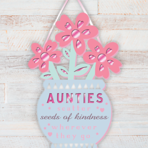Aunt Auntie Wooden Plaque