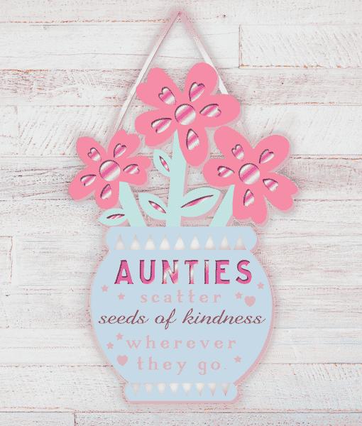 Aunt Auntie Wooden Plaque