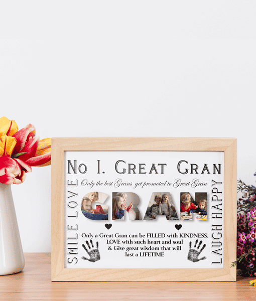Personalised Great GRAN Photo Gift