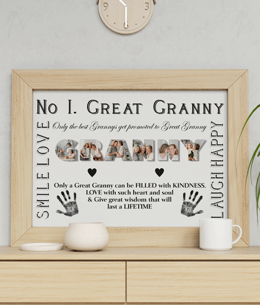 Personalised Great GRANNY Photo Gift