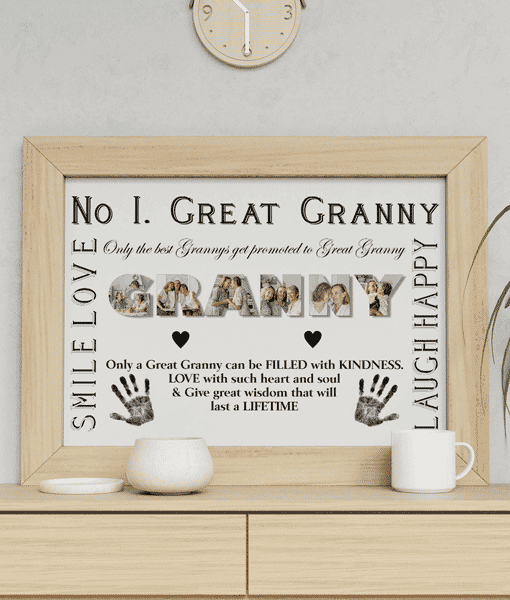 Gifts For Grandparents No 1 Great GRANNY Personalised Photo Gift