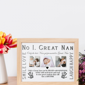 Gifts For Grandparents No 1 Great NAN Personalised Photo Gift