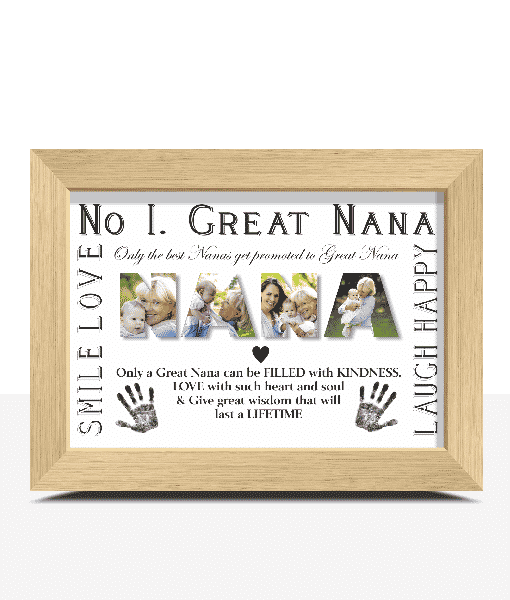 Gifts For Grandparents No 1 Great NANA Personalised Photo Gift