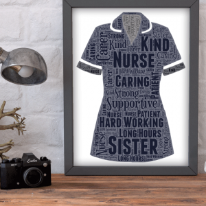 Sister Nurse Uniform Word Art Print