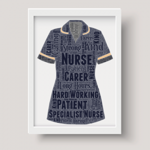 Specialist Nurse Uniform Word Art Print