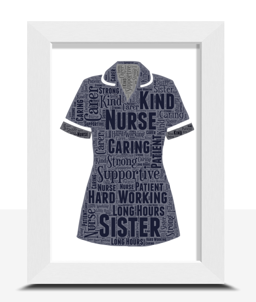 Sister Nurse Uniform Word Art Print