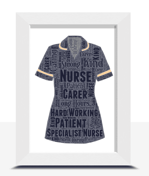 Graduation Gifts Specialist Nurse Uniform Word Art Print