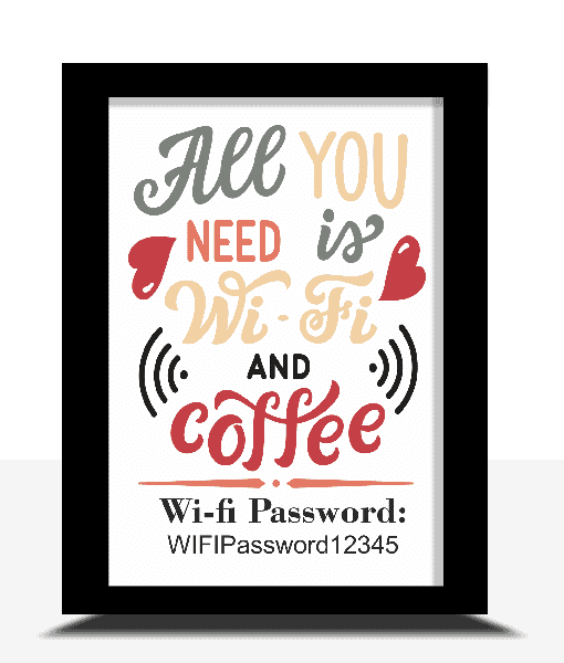 Family Personalised WIFI Password Poster